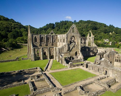 Tintern Abbey from above